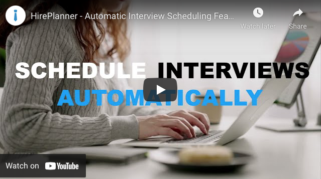New Automatic Interview Scheduling System