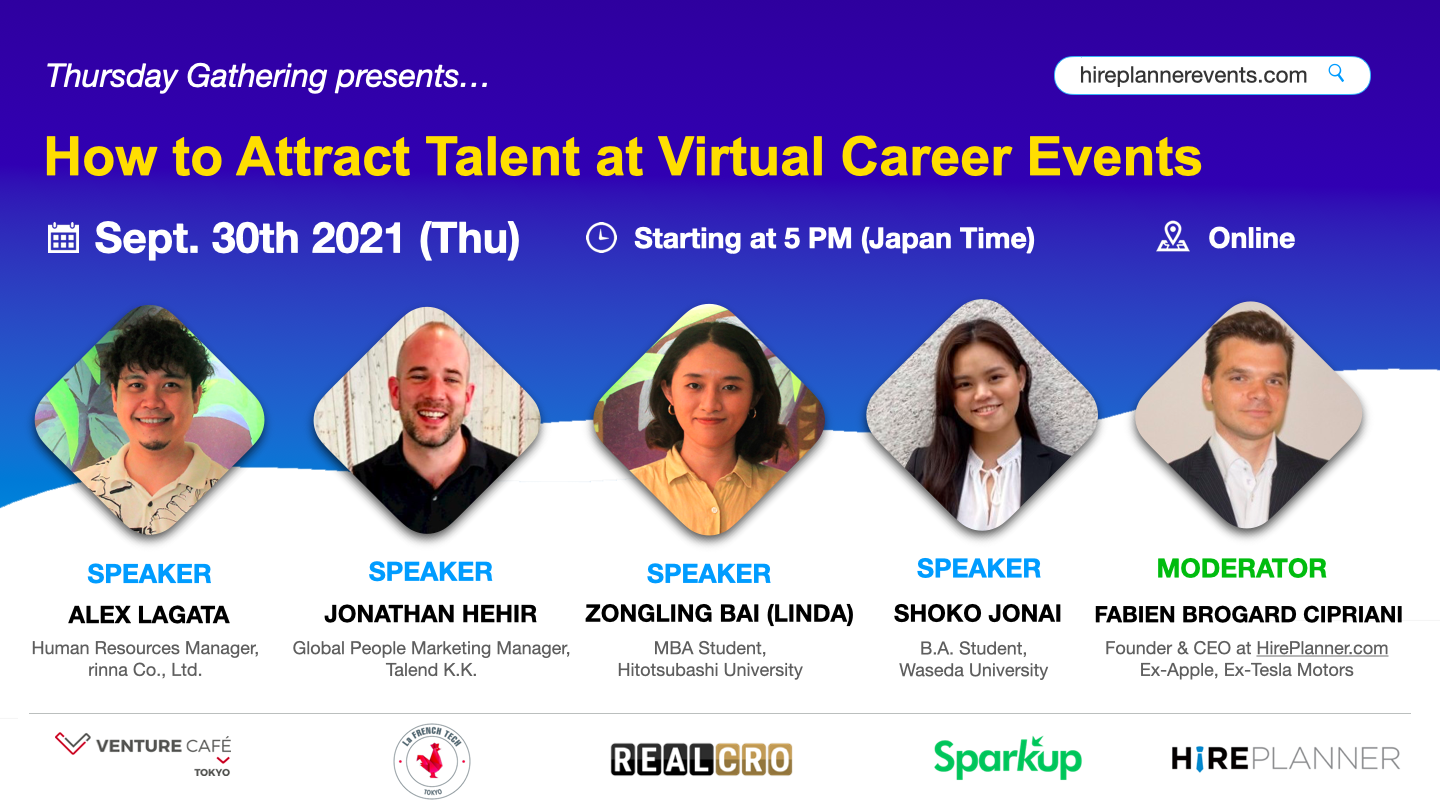 HR Event Series – How to Attract Talent at Virtual Career Events in Japan